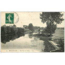 carte postale ancienne 37 MONTBAZON. L'Indre 1913