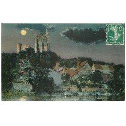carte postale ancienne 37 MONTBAZON. Pêcheur de Nuit 1909