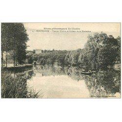 carte postale ancienne 37 MONTBAZON. Pêcheurs et Château Tortinière