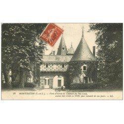 carte postale ancienne 37 MONTBAZON. Porte entrée Château 1919 Jardinier