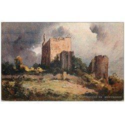 carte postale ancienne 37 MONTBAZON. Ruines. Publicité Bi-Borax pour Cartes postales rue des Francs-Bourgeois à Paris