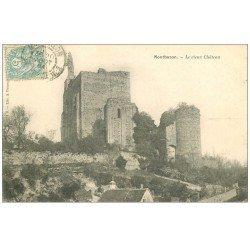 carte postale ancienne 37 MONTBAZON. Vieux Château 1904