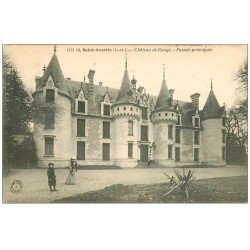 carte postale ancienne 37 SAINT-AVERTIN. Château de Cangé animation 1907