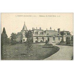 carte postale ancienne 37 SAINT-AVERTIN. Château du Petit Bois