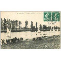 carte postale ancienne 37 SAINT-AVERTIN. Courses à Voiles sur le Cher 1906