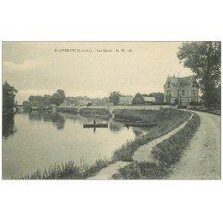 carte postale ancienne 37 SAINT-AVERTIN. Les Quais et barques