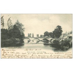 carte postale ancienne 37 SAINT-AVERTIN. Pont du Cher 1902