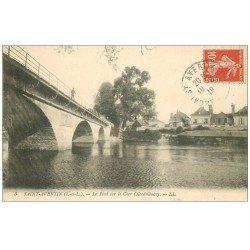 carte postale ancienne 37 SAINT-AVERTIN. Pont sur le Cher 1918