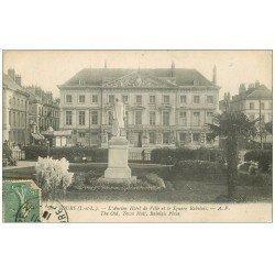 carte postale ancienne 37 TOURS. Ancien Hôtel de Ville 1918 Square Rabelais