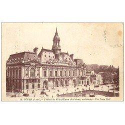 carte postale ancienne 37 TOURS. Ancien Hôtel de Ville 1931. Timbre absent