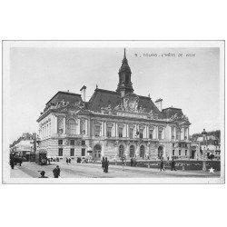 carte postale ancienne 37 TOURS. Ancien Hôtel de Ville. Carte Photo émaillographie