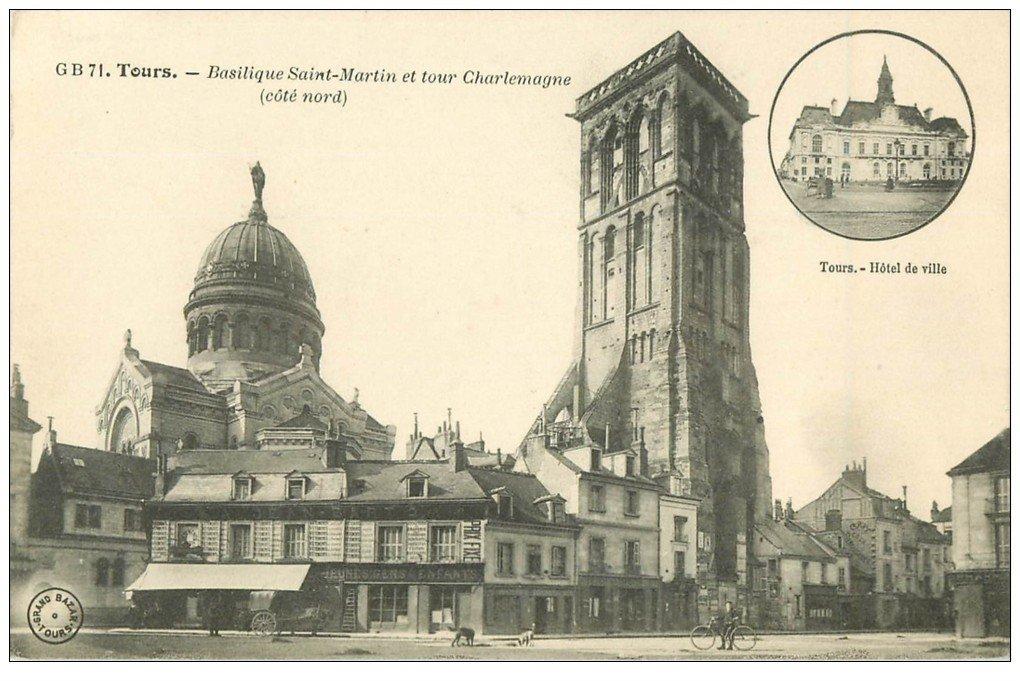 37 TOURS. Basilique Saint-Martin Tour Charlemagne