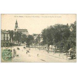 carte postale ancienne 37 TOURS. Boulevard Heurteloup 1910