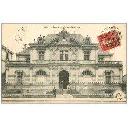 carte postale ancienne 37 TOURS. Caisse d'Epargne 1906