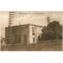 carte postale ancienne 01 REVONNAS. Le Transformateur