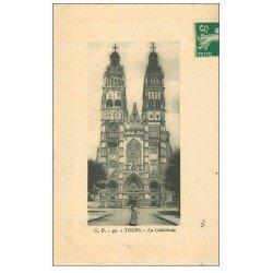 carte postale ancienne 37 TOURS. Cathédrale 1912