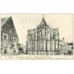 carte postale ancienne 37 TOURS. Cathédrale Abside