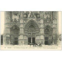 carte postale ancienne 37 TOURS. Cathédrale Porte d'Entrée n°10
