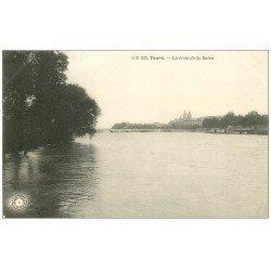 carte postale ancienne 37 TOURS. Crue de la Loire