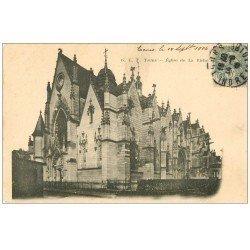 carte postale ancienne 37 TOURS. Eglise de la Riche 1906
