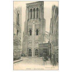 carte postale ancienne 37 TOURS. Eglise et aux Caves d'Espagne