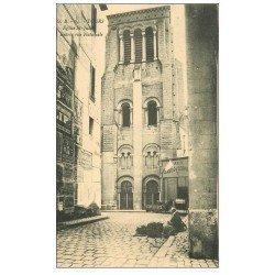 carte postale ancienne 37 TOURS. Eglise rue Nationale