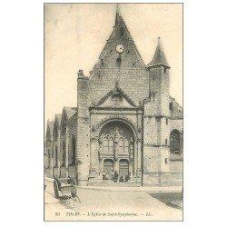 carte postale ancienne 37 TOURS. Eglise Saint-Symphorien