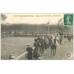 carte postale ancienne 37 TOURS. Hippodrome Saint-Avertin 1906. Steeple-Chase. Courses Chevaux
