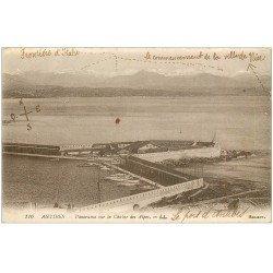 carte postale ancienne 06 ANTIBES. La Chaîne des Alpes 1919