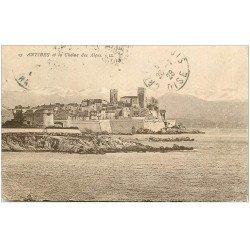 carte postale ancienne 06 ANTIBES. La Chaîne des Alpes 1928
