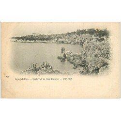 carte postale ancienne 06 ANTIBES. Rocher de la Villa Eilenroc