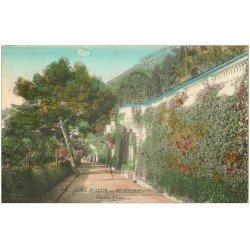 carte postale ancienne 06 BEAULIEU. Chemin Fleuri