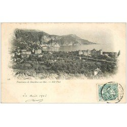 carte postale ancienne 06 BEAULIEU. Panorama 1903