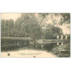 carte postale ancienne 37 VOUVRAY. Barrage Cisse 1904