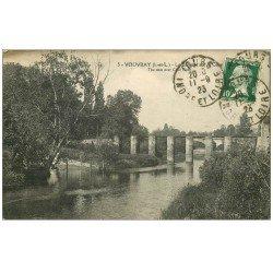 carte postale ancienne 37 VOUVRAY. Barrage Cisse 1923