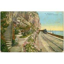 carte postale ancienne 06 BEAULIEU. Train à la Petite Afrique
