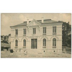 carte postale ancienne 37 VOUVRAY. Groupe Scolaire