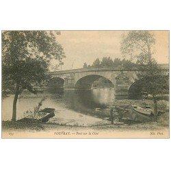 carte postale ancienne 37 VOUVRAY. Pont sur la Cisse 1907