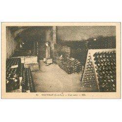 carte postale ancienne 37 VOUVRAY. Une Cave à Vins