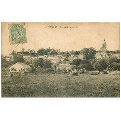 carte postale ancienne 37 VOUVRAY. Vue du Village vers 1905
