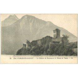carte postale ancienne 65 ARGELES-GAZOST. Château de Beauceus Massif de Viscos