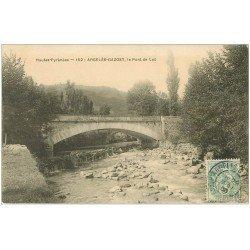 carte postale ancienne 65 ARGELES-GAZOST. Le Pont de Laü 1905