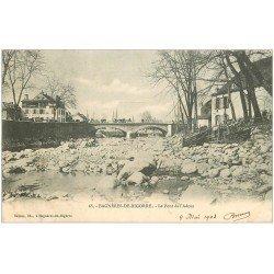 carte postale ancienne 65 BAGNERES-DE-BIGORRE. Le Pont de l'Adour 1903