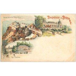 carte postale ancienne 65 BAGNERES-DE-BIGORRE. Observatoire et Casino vers 1900