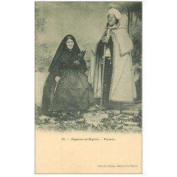 carte postale ancienne 65 BAGNERES-DE-BIGORRE. Paysans et Fileuse