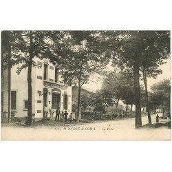 carte postale ancienne 01 SAINT-ANDRE-DE-CORCY. La Poste et Télégraphe et Téléphone