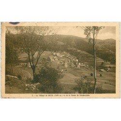 carte postale ancienne 06 BEUIL. Le Village. Edition Grand Hôtel. Bords découpés à la ficelle...