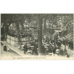 carte postale ancienne 65 BAGNERES-DE-BIGORRE. Une Fête aux Coustous avec Orchestre