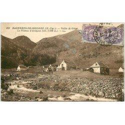 carte postale ancienne 65 BAGNERES-DE-BIGORRE. Vallée de Gripp Plateau d'Artigues 1933
