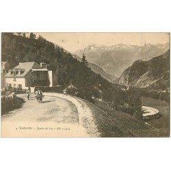 carte postale ancienne 65 BAREGE. Route de Luz avec Paysan